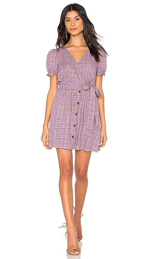 V Neck Button Front Dress