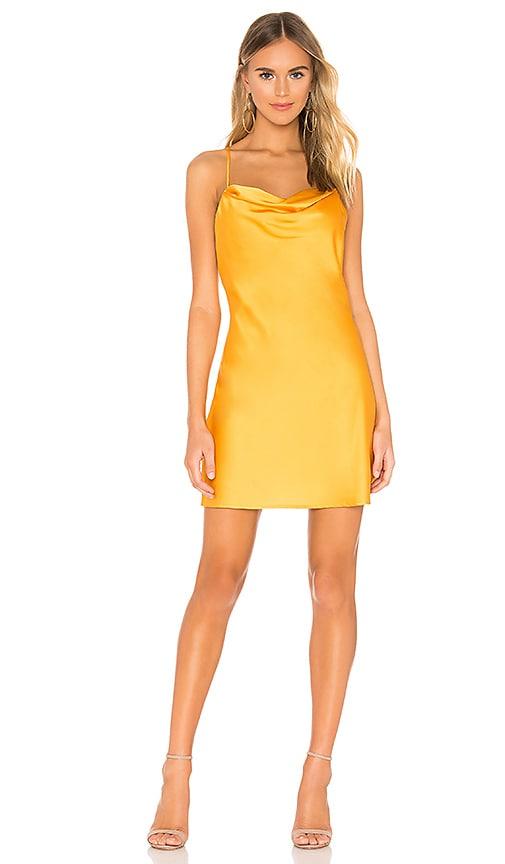 J.O.A. Cowl Neck Slip Dress in Apricot | REVOLVE