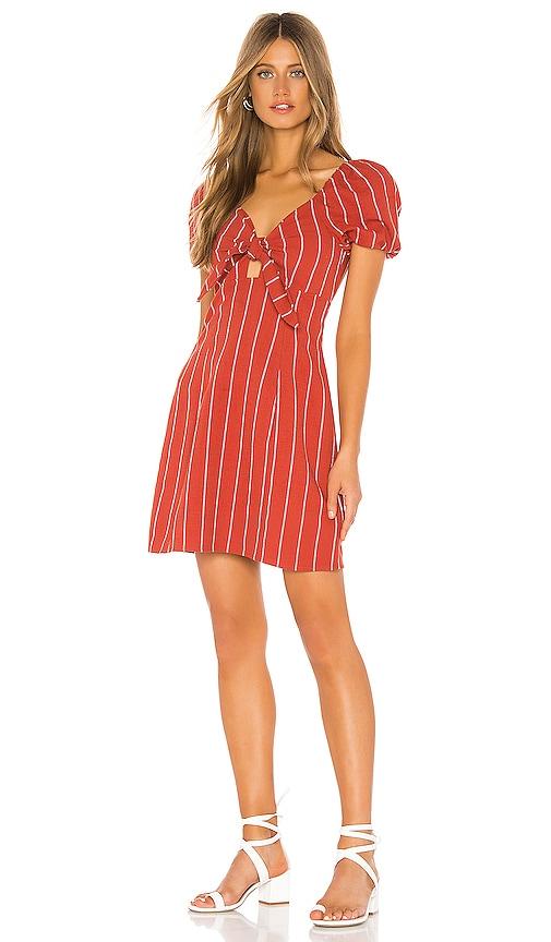 Striped Tie Front Mini Dress