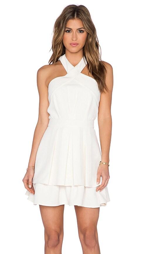J.O.A. Halter Dress in Light Khaki