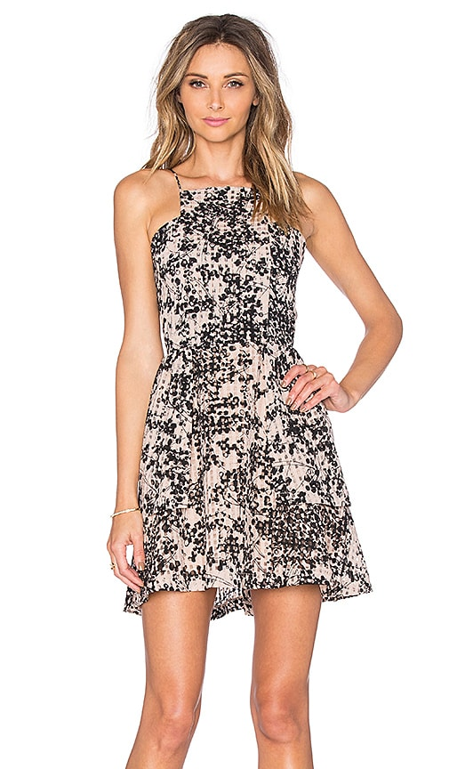 J.O.A. Floral Scattered Dress in Black