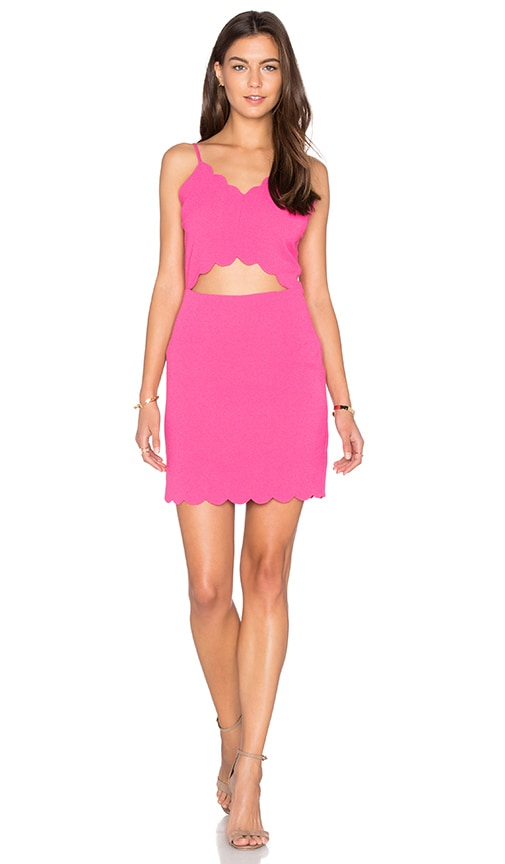 J.O.A. Front Cutout Bodycon Mini Dress in Pink