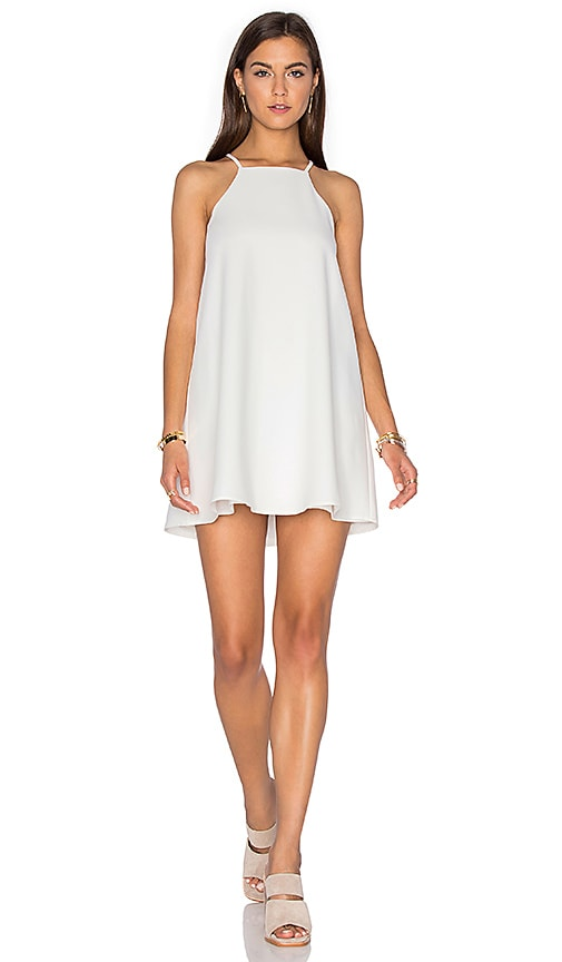 J.O.A. Sleeveless Shift Dress in White