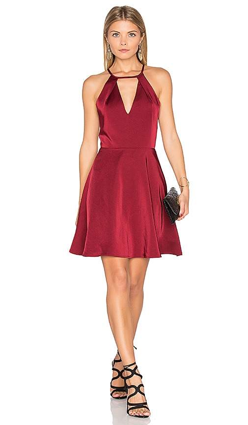J.O.A. Sleeveless Mini Dress in Burgundy