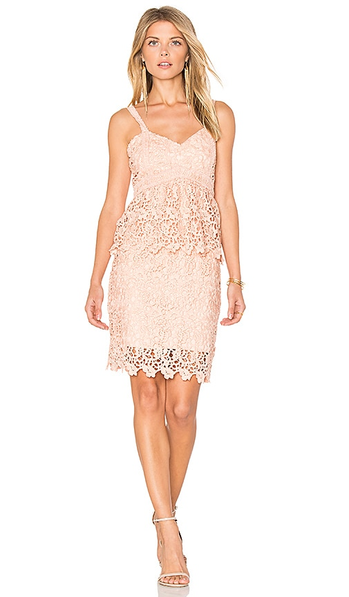 J.O.A. Crochet Dress in Pink