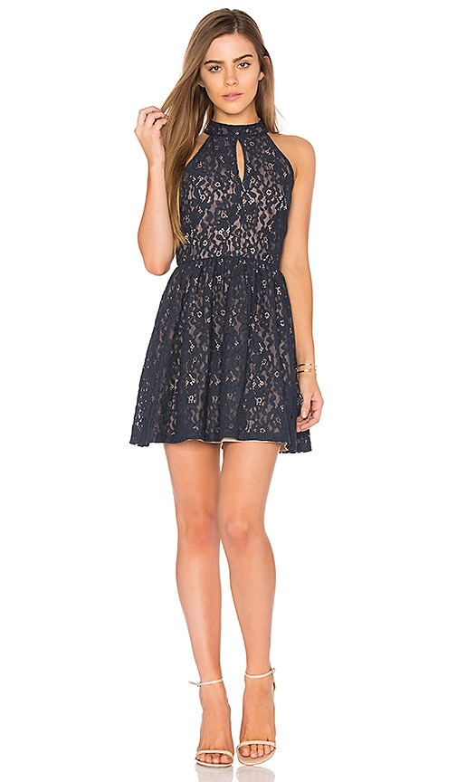 J.O.A. Sleeveless Fit & Flare Dress in Navy