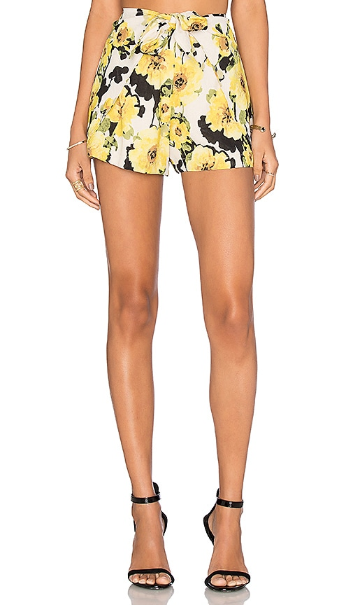 J.O.A. Floral Short in Yellow