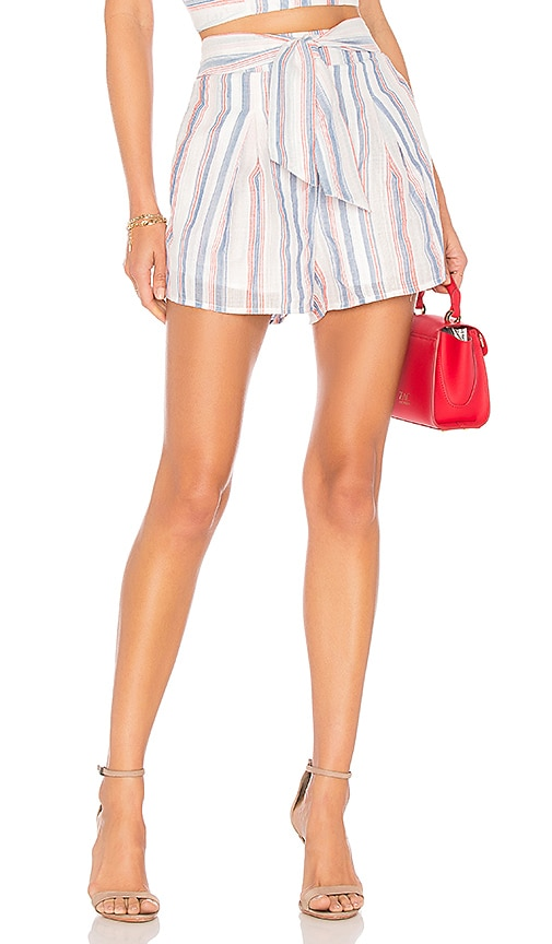 Pleated Tie Waist Short by J.O.A.