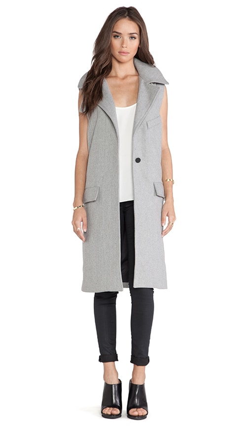 J.O.A. Sleeveless Coat in Grey | REVOLVE