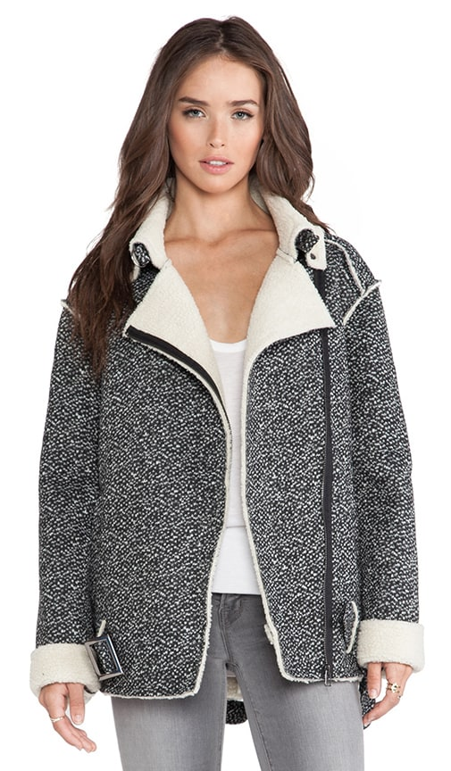 Mustang Jacket with Faux Shearling