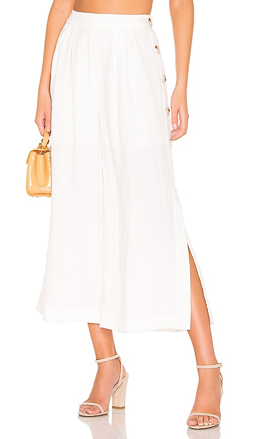 Buttoned Wide Leg Pant
