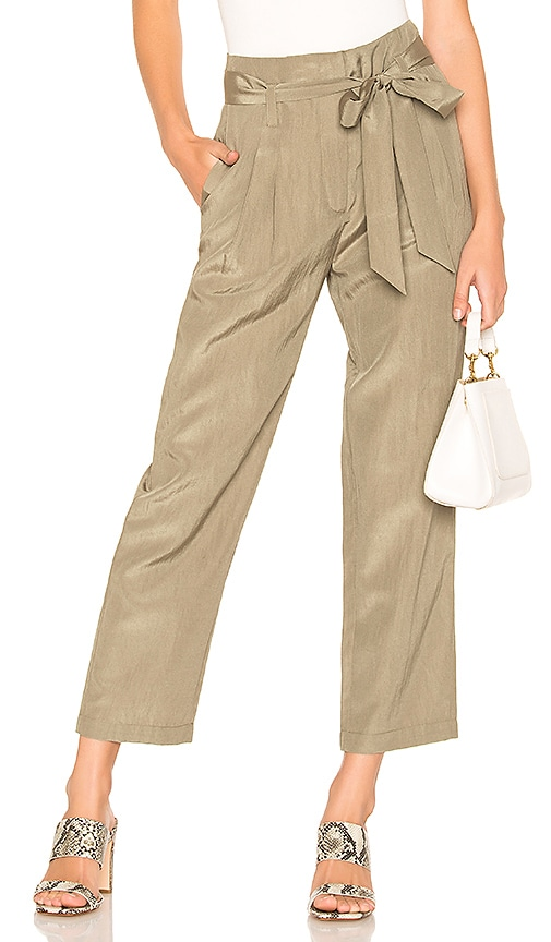 Tie Waist Cropped Pant
