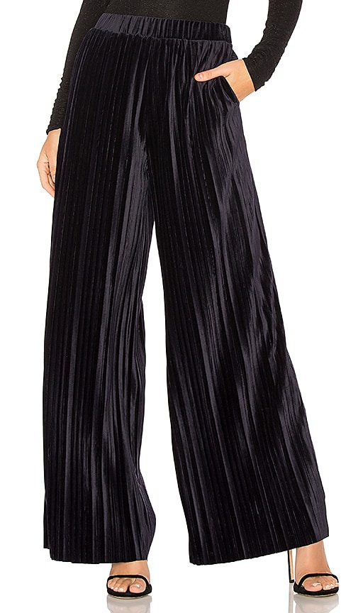 J.O.A. Wide Leg Pants in Navy