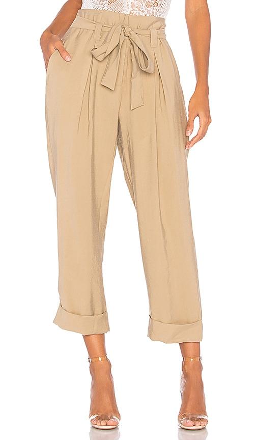 J.O.A. Paper Bag Pants in Brown
