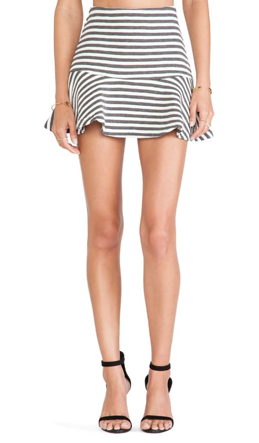 Striped Embo Skirt
