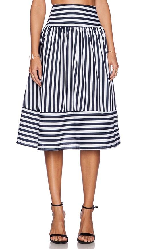 Panel Striped Skirt