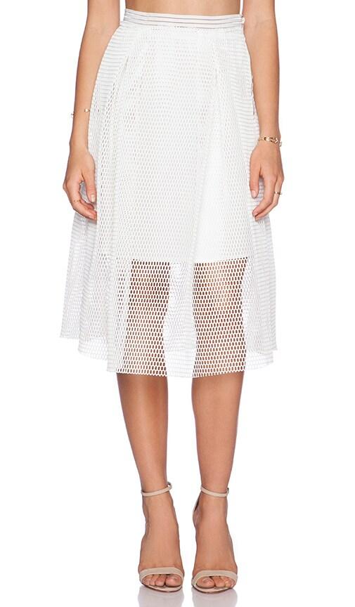 J.O.A. Mesh Skirt in White