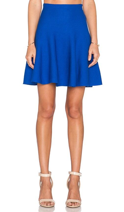 J.O.A. Flare Mini Skirt in Royal