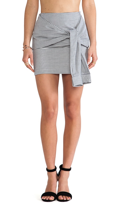 Two-Fer Striped Skirt
