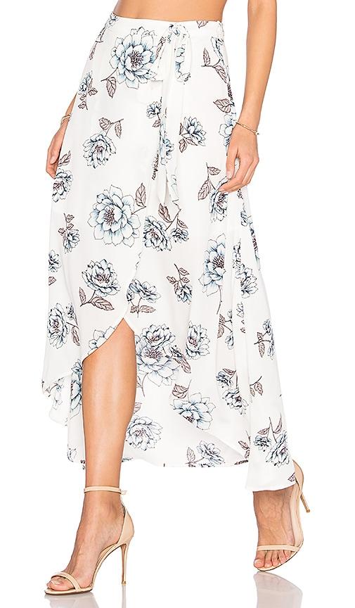 J.O.A. Wrap Skirt in White