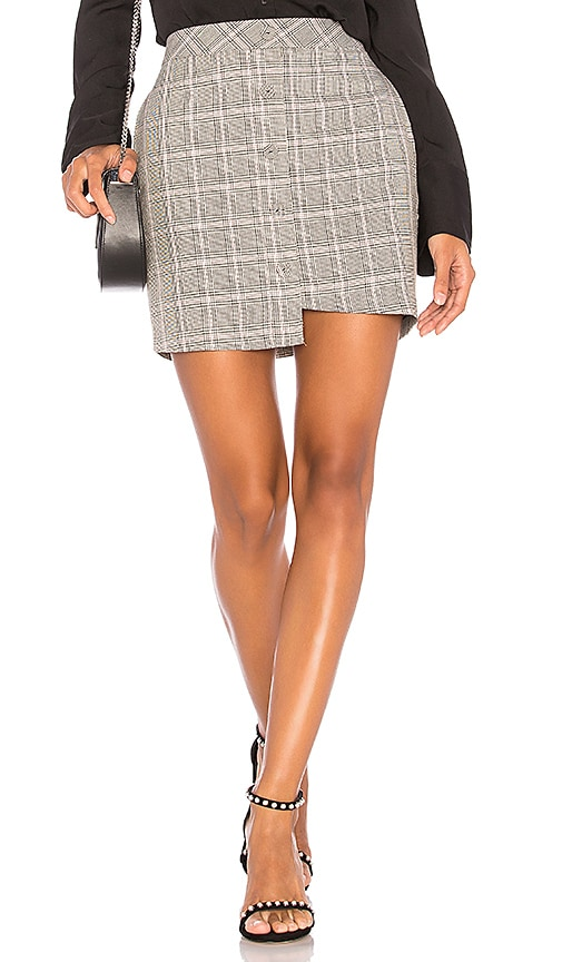 J.O.A. Asymmetric Mini Skirt in Gray