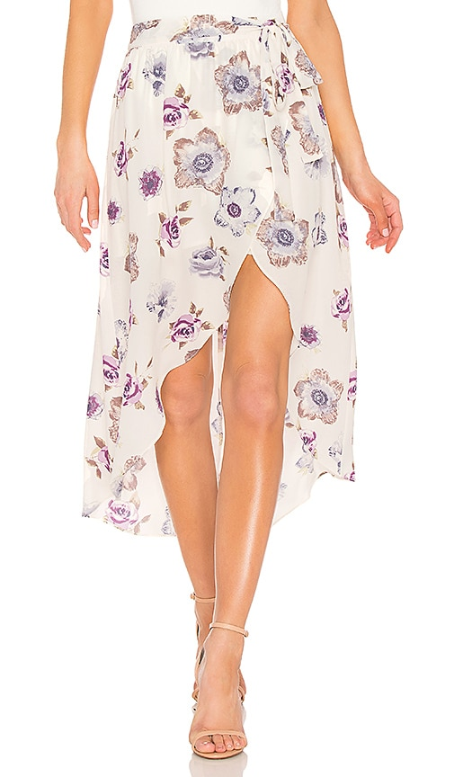 J.O.A. Wrap Skirt in Ivory
