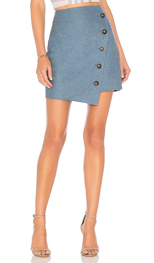 Angle Buttoned Mini Skirt
