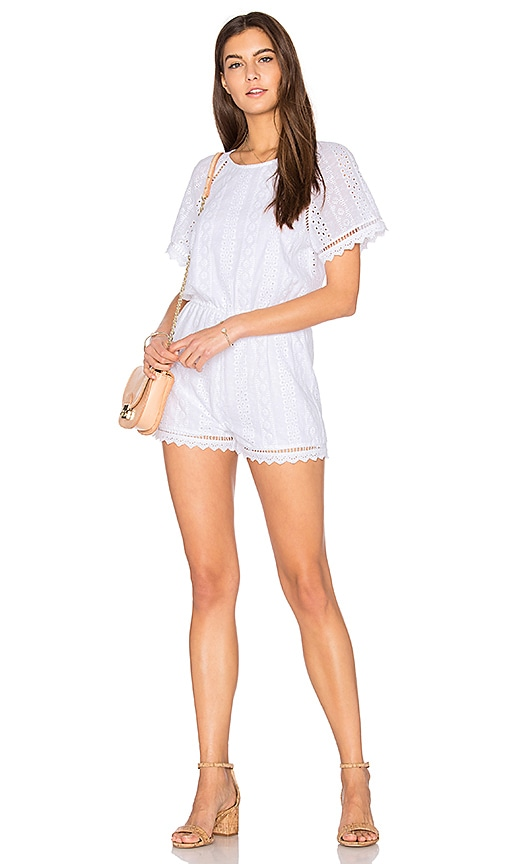 J.O.A. Romper in White