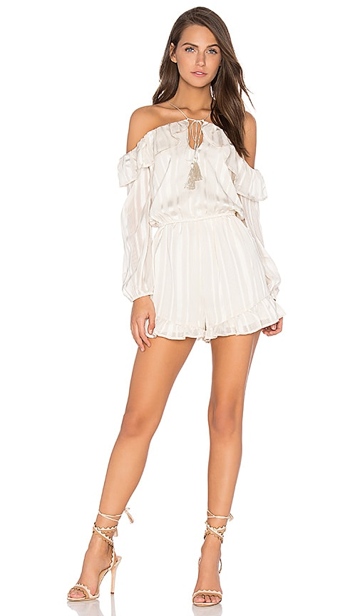 J.O.A. Cutout Romper in White