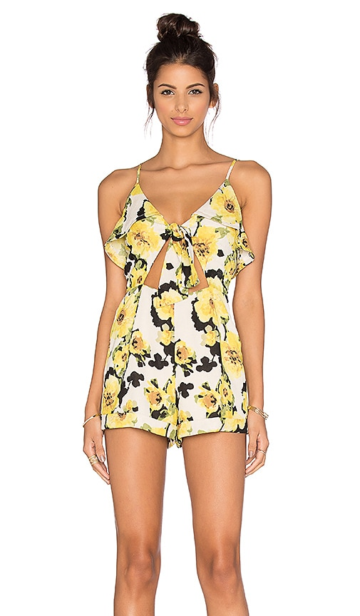 Good Prices convenience goods great quality Floral Cut Out Romper