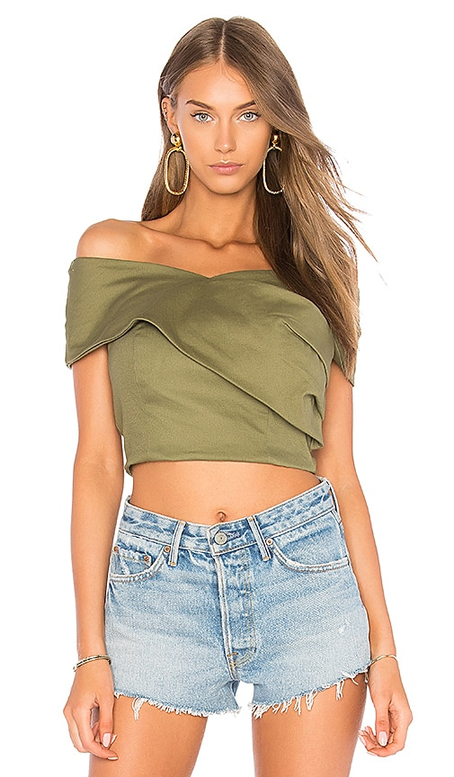 J.O.A. Wrap Style Tank Top in Olive