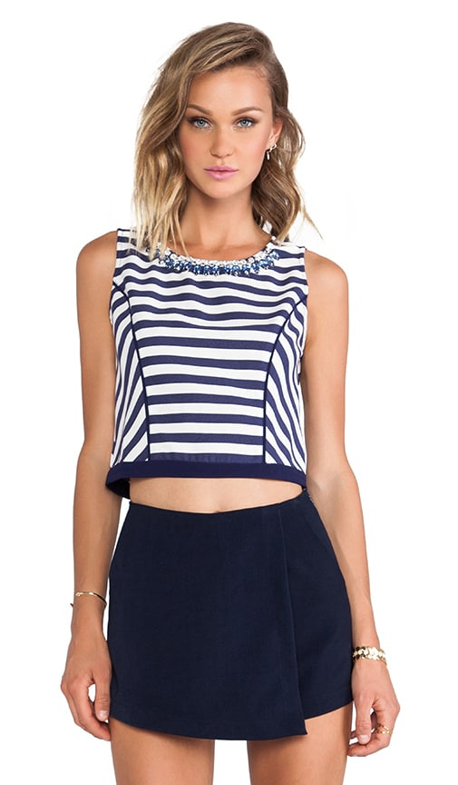 Striped Panel Sleeveless Top