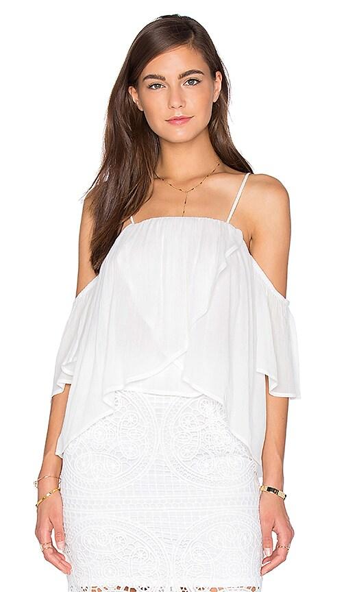 Short Sleeve Open Shoulder Blouse