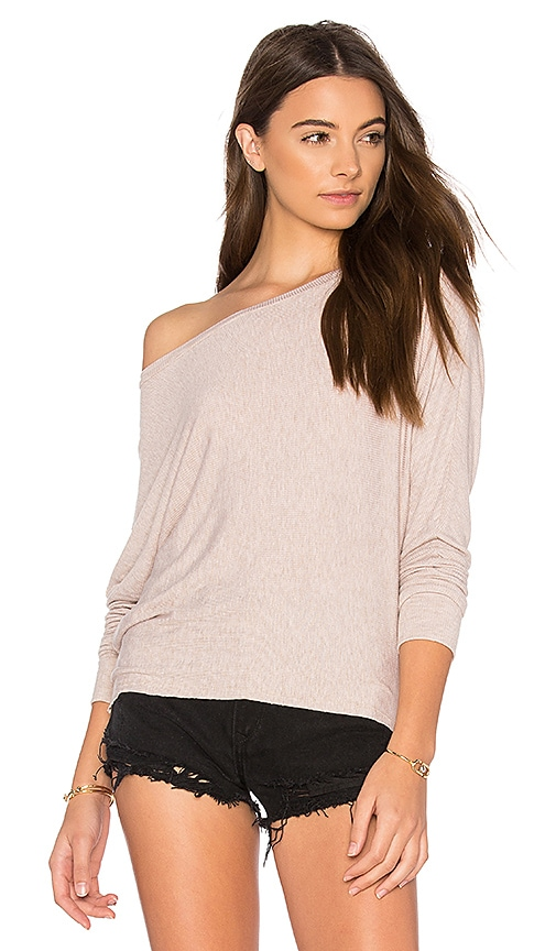 JOAH BROWN Vital Long Sleeve Tee in Beige