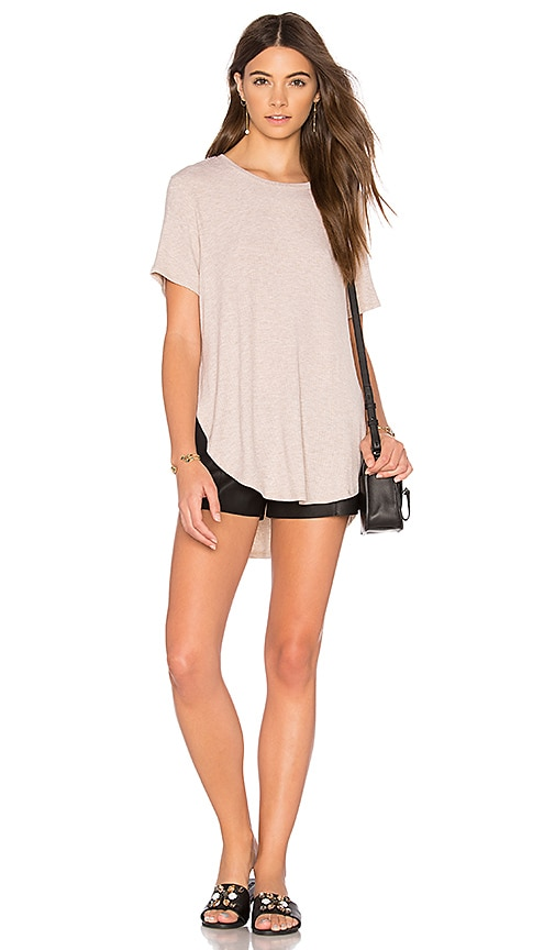 JOAH BROWN Live In Slouchy Tee in Beige