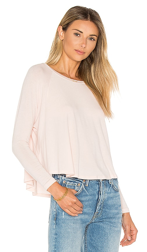 JOAH BROWN Prime Time Long Sleeve Tee in Blush