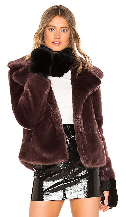 Dyed Rex Rabbit Fur Cowl and Mitten Set