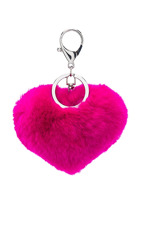 Rex Rabbit Heart Keychain