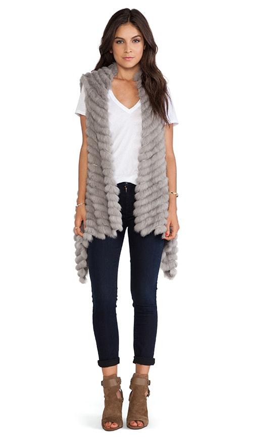 Alicia Asymmetrical Rabbit Fur Vest