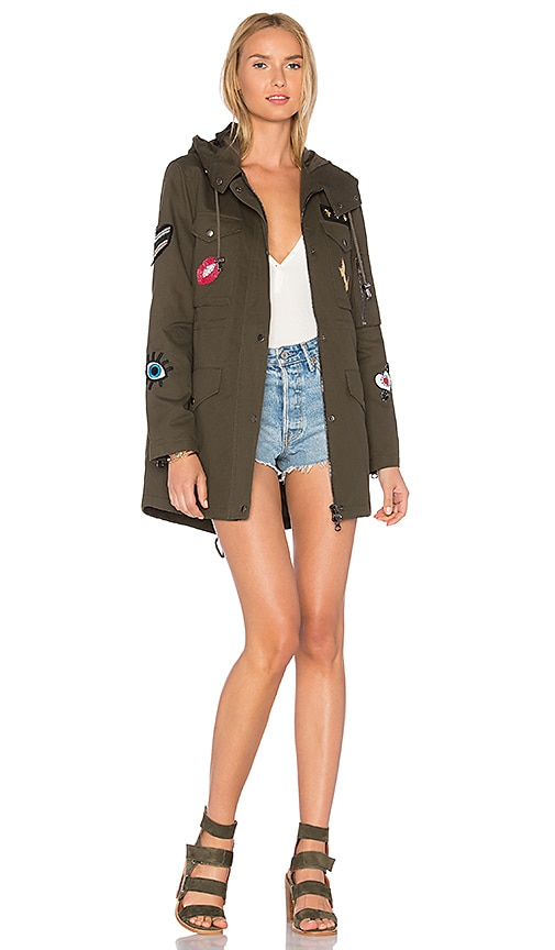jocelyn Cargo Coat With Exclusive Patches in Army