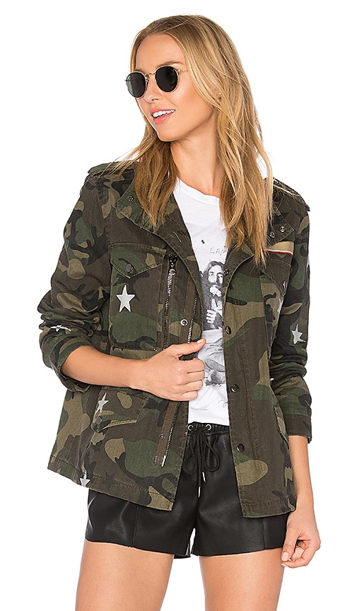 jocelyn Field Jacket With Stars in Army