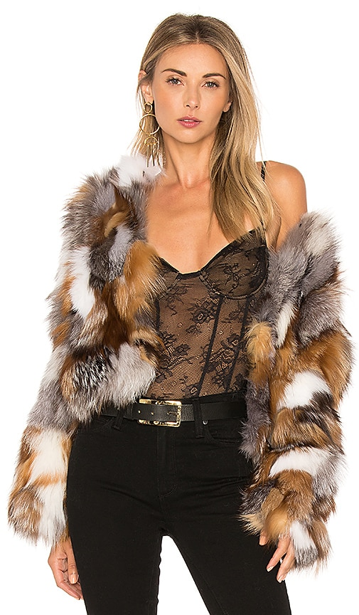 Fox Fur Sections Jacket