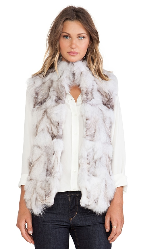 Blue Fox Fur Vest