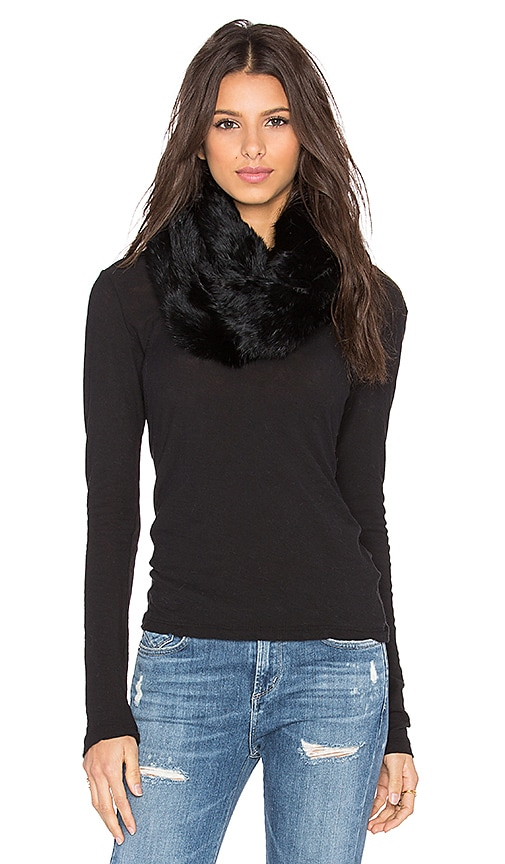 jocelyn Rabbit Infinity Scarf in Black