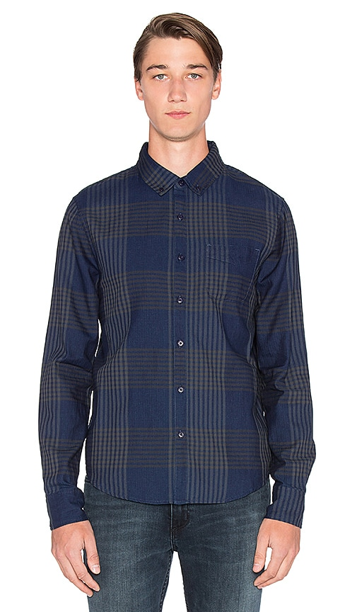 Slim Fit Shirt Double Woven Plaid