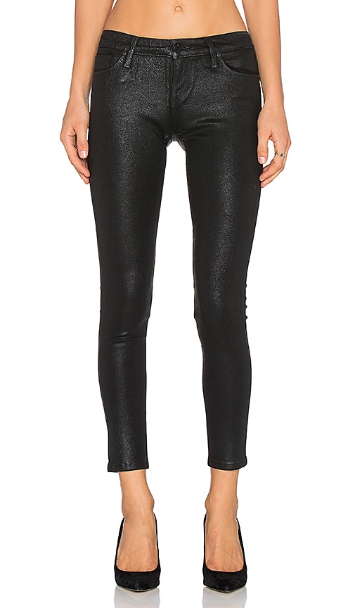 Joe's Jeans Suede Colors Flawless The Vixen Ankle Skinny in Black Coated Indigo