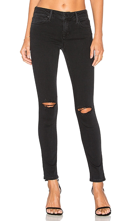 Joe's Jeans The Vixen Ankle in Distressed Faded Black