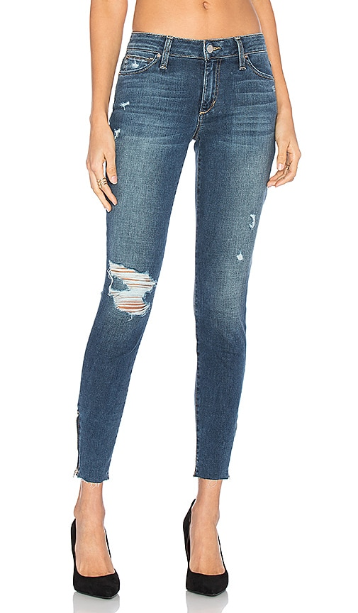 Joe's Jeans The Icon Ankle Skinny in Distressed Medium Dark Blue