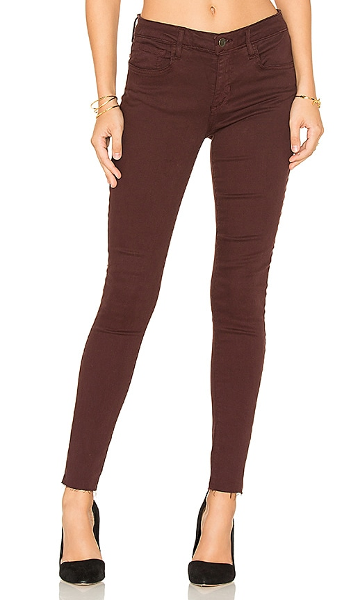Joe's Jeans The Icon Ankle Skinny in Red