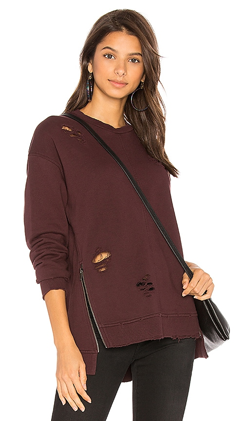 Joe's Jeans Lyndon Pullover in Burgundy